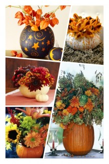 Pumpkin Vase Collage