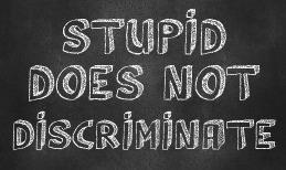 Sometimes Stupid is Just Stupid